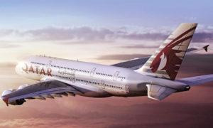 طائرة من الخطوط الجوية القطرية (موقع الخطوط الجوية القطرية)
