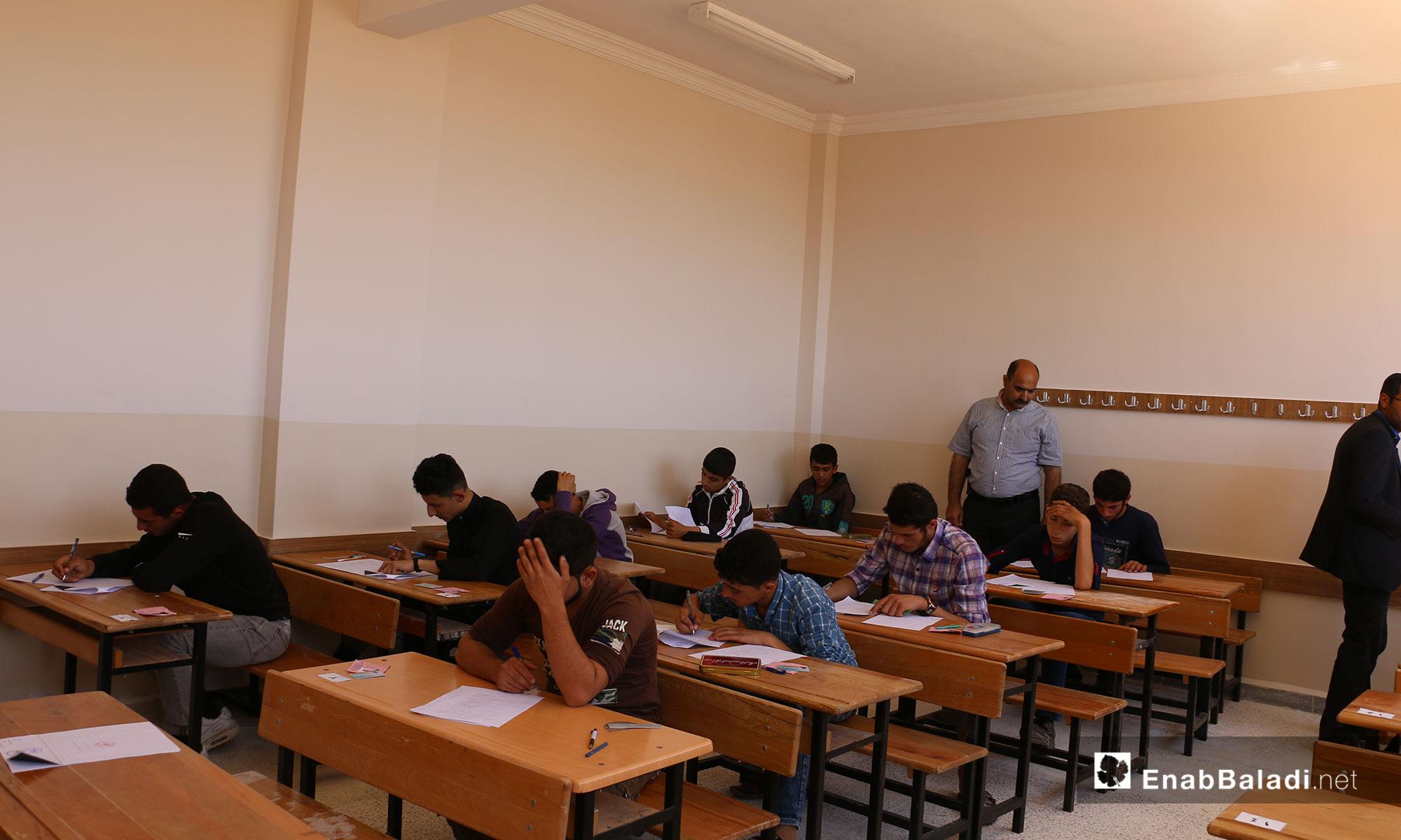امتحانات الشهادة الاعدادية للعام 2018- 2019 في مدينة أخترين وضواحيها بريف حلب - 26 أيار 2019 (عنب بلدي)
