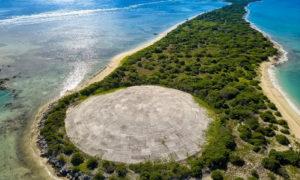 القبة الإسمنتية في جزيرة رونيت من جمهورية جزر مارشال (انترنيت)