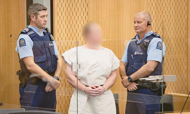 برينتون تارانت المتهم في محكمة المقاطعة في نيوزيلندا - 16 آذار 2019 (رويترز)