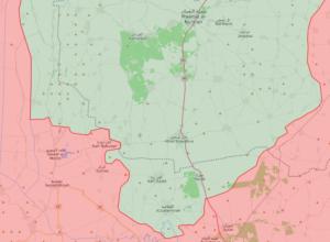 خريطة توضح مناطق النفوذ في الشمال السوري - 14 من أيار 2019 (LM)