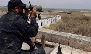 عنصر من قوات النمر على جبهات ريف حماة الشمالي - أيار 2019 (قوات النمر/فيس بوك)
