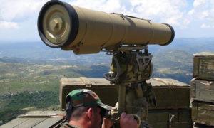 عنصر من قوات الأسد على جبهات ريف اللاذقية - (سبوتنيك)