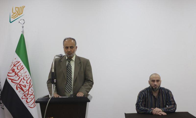 مؤتمر صحفي لحكومة الإنقاذ من أجل تسليم مختطف إيطالي لبلاده - 22 من أيار 2019 (الإنقاذ)