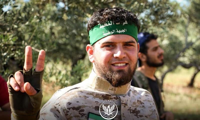 مقاتل من الجبهة الوطنية للتحرير خلال عمل عسكري على بلدة كفرنبودة - أيار 2019 (الجبهة الوطنية)
