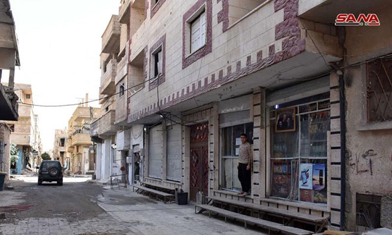 حي في مدينة تدمر بريف حمص الشرقي - 2018 (سانا)