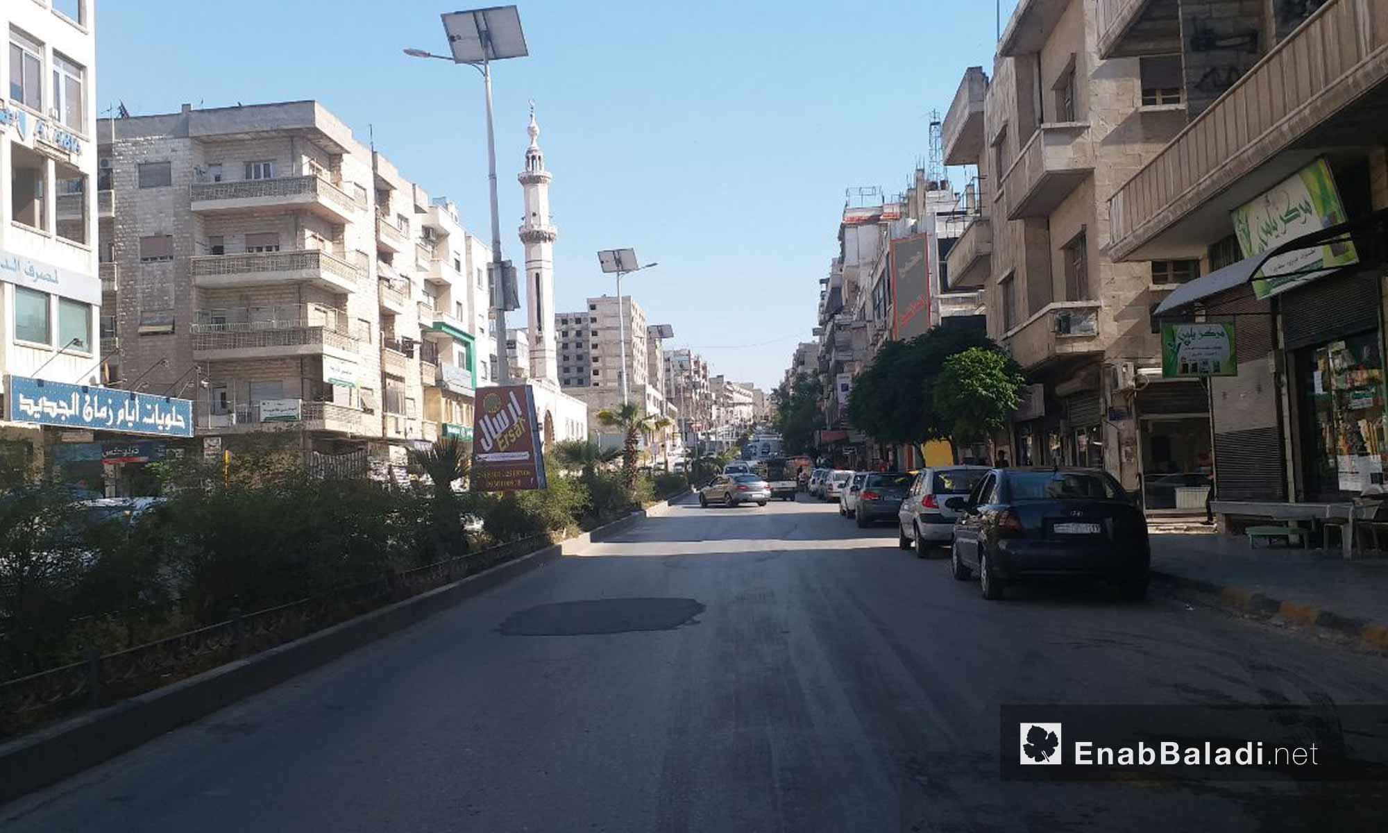 شارع العلمين في مدينة حماة - 18 من أيار 2019 (عنب بلدي)