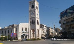 ساحة العاصي في مدينة حماة - 18 من أيار 2019 (عنب بلدي)