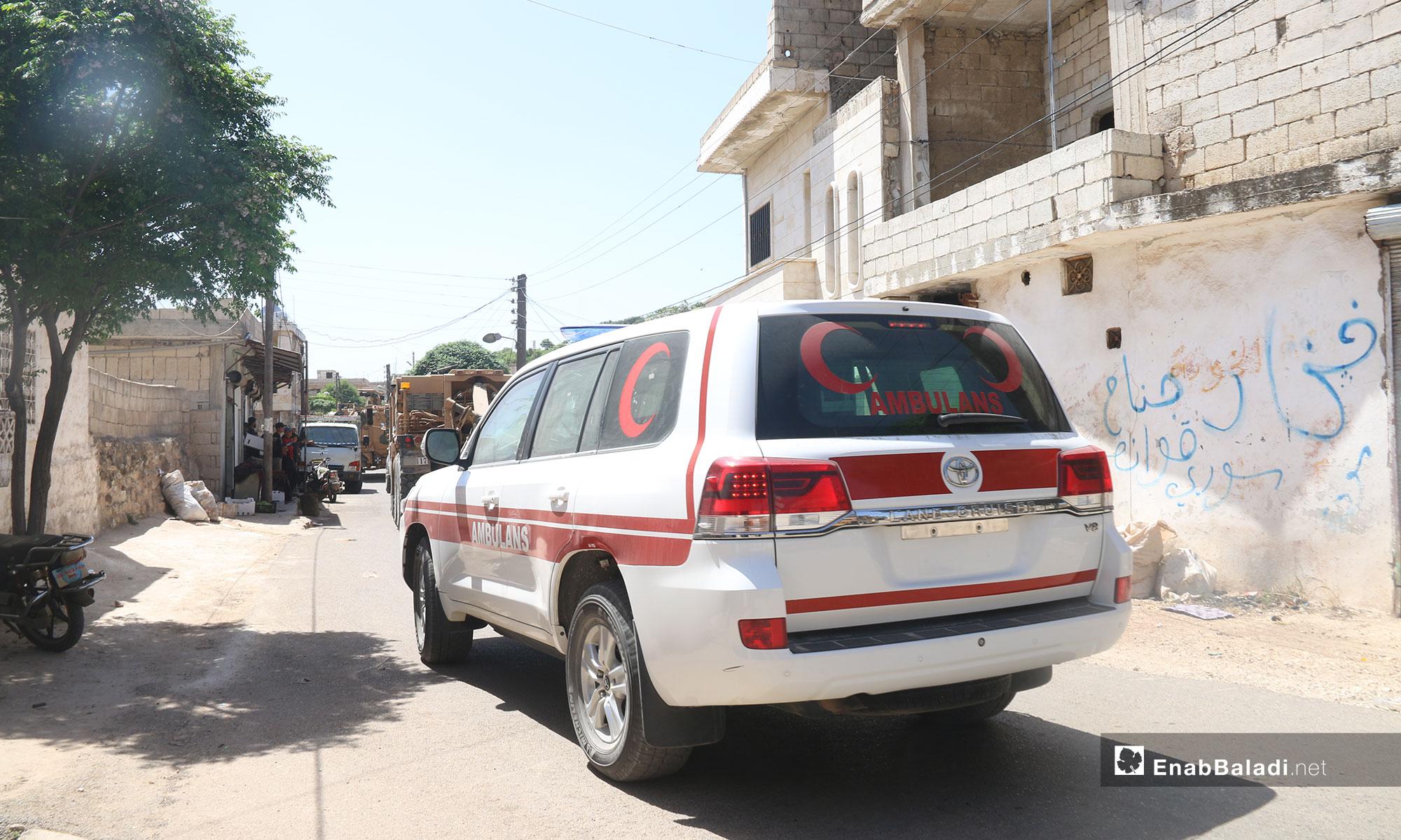 رتل تركي يدخل ريف إدلب باتجاه سهل الغاب بريف حماة - 17 من أيار 2019 (عنب بلدي)