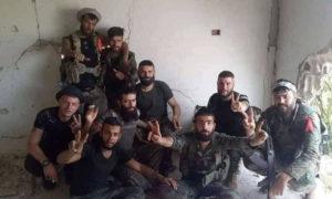 عناصر من قوات الأسد على جبهات ريف حماة الشمالي - أيار 2019 (صفحات موالية في فيس بوك)