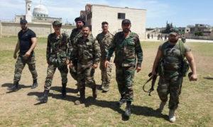 عناصر من قوات النمر في أثناء العمليات العسكرية بريف حماة - 6 من أيار 2019 (قوات النمر/ فيس بوك)