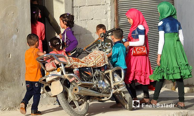 أجواء عيد الفطر في بلدة دابق شمال شرق حلب- 4 من حزيران 2019 (عنب بلدي)