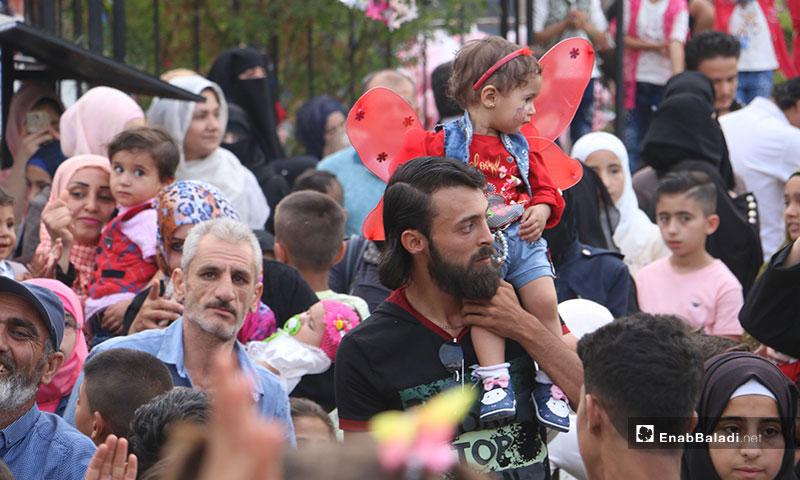 حفل للأطفال المهجرين بمناسبة عيد الفطر في عفرين بريف حلب - 6 من حزيران 2019 (عنب بلدي)