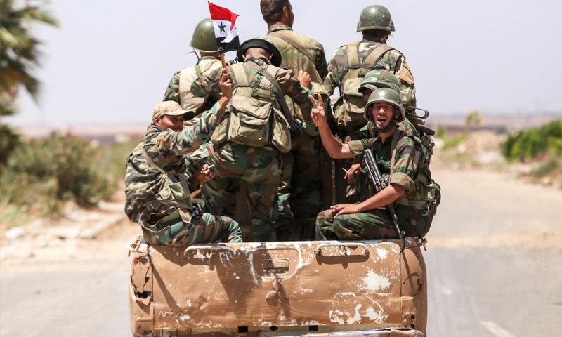 عناصر من قوات الأسد في الجنوب السوري - 2018 (ميدل أيست)