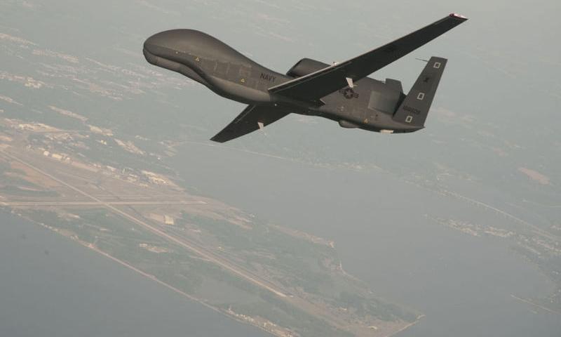 """طائرة استطلاع أمريكية من طراز """"ام كيو- هوك"""" (AP)"""