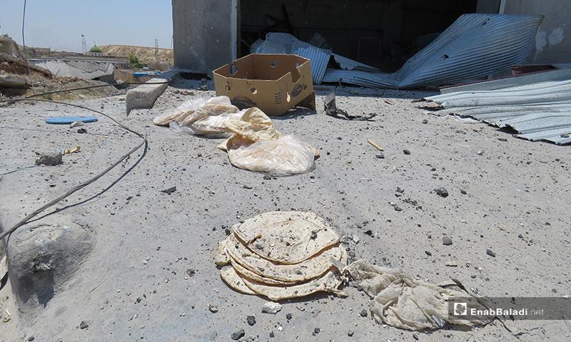 غارات جوية تطال بلدة حيش جنوبي ادلب - 20 من حزيران 2019 (عنب بلدي)