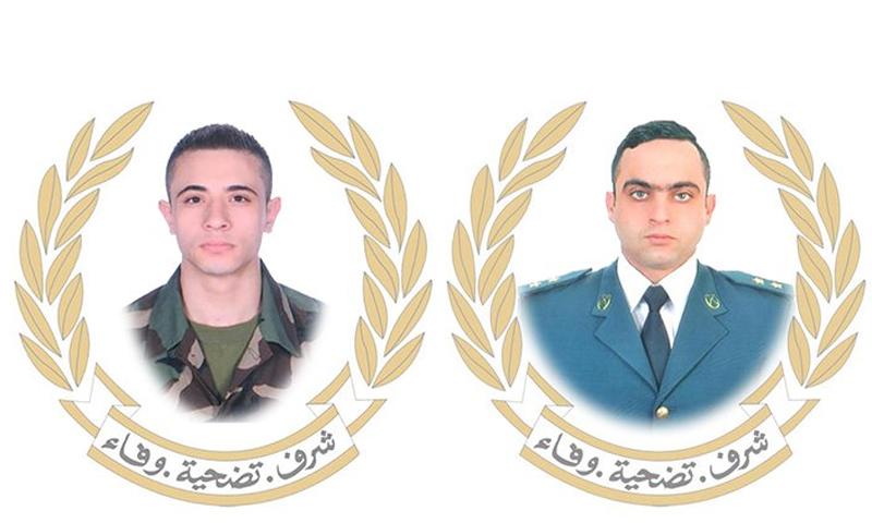 عنصران من الجيش اللبناني قتلوا خلال مواجهات مع مسلح- 4 من حزيران 2019 (الجيش اللبناني تويتر)