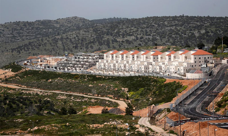مستوطنة إسرائيلية في الضفة الغربية - 7 نيسان 2019 (رويترز)