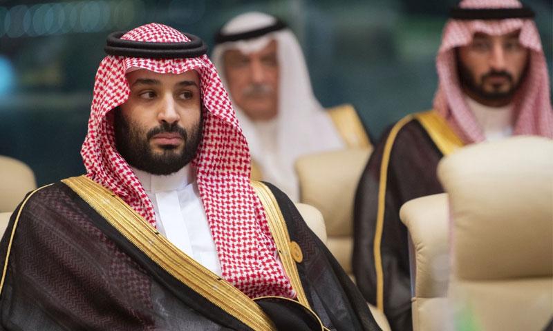 ولي العهد السعودي محمد بن سلمان في اجتماع مجلس التعاون الخليجي في مكة (AFP)