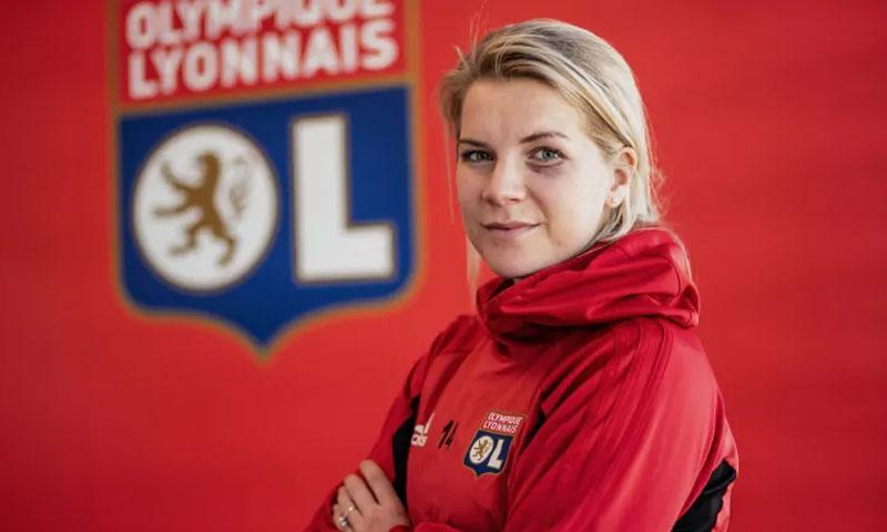 آدا هيغربيرغ لاعبة كرة القدم النرويجية (AFP)