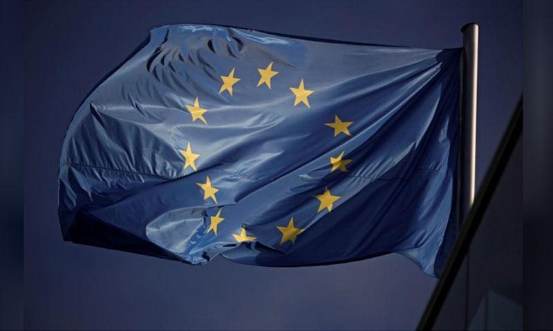 علم الاتحاد الأوروبي - 26 أيار 2019 (رويترز)