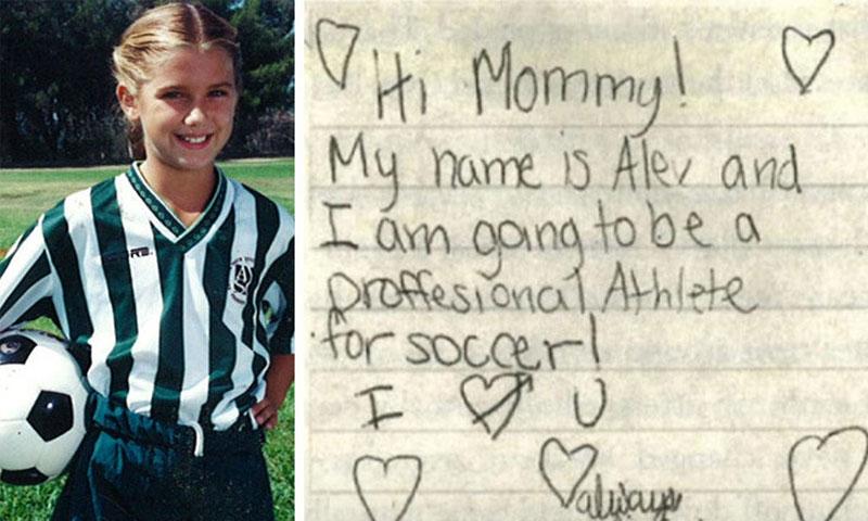 آليكس مورجن بعمر السابعة