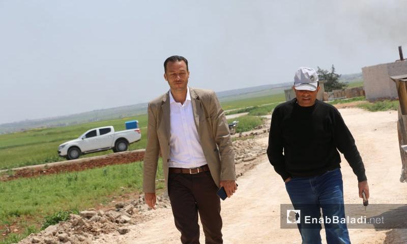 رئيس المجلس المحلي في مدينة اخترين بريف حلب الشمالي خالد ديبو - (عنب بلدي)