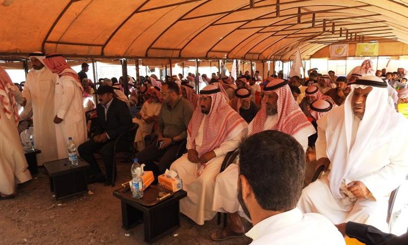 اجتماع مجلس سوريا الديمقراطية مع وجهاء عشائر دير الزور - 17 من حزيران 2019 (وكالة هاوار)