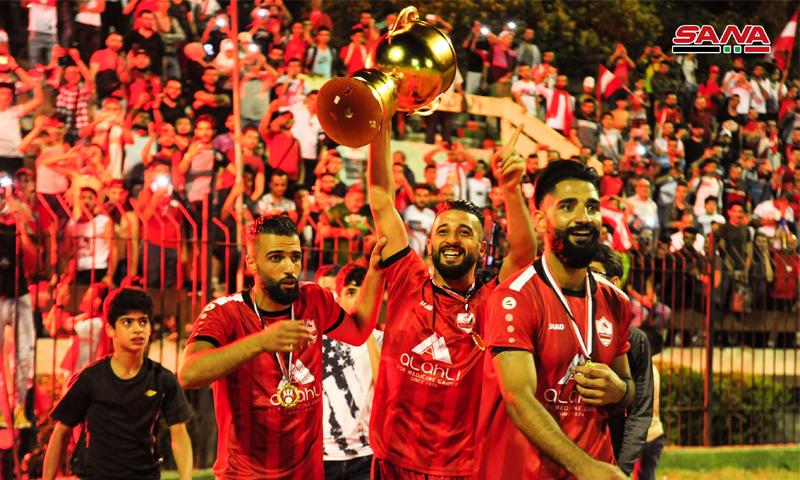 نادي الوثبة يتوج بلقب كأس الجمهورية العربية السورية (سانا)