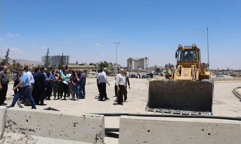 افتتاح طريق عربين حرستا في الغوطة الشرقية - 19 من حزيران 2019 (المكتب التنفيذي لمدينة عربين)