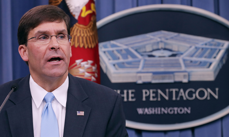 وزير الدفاع الأمريكي بالوكالة مارك أسبر (AFP)