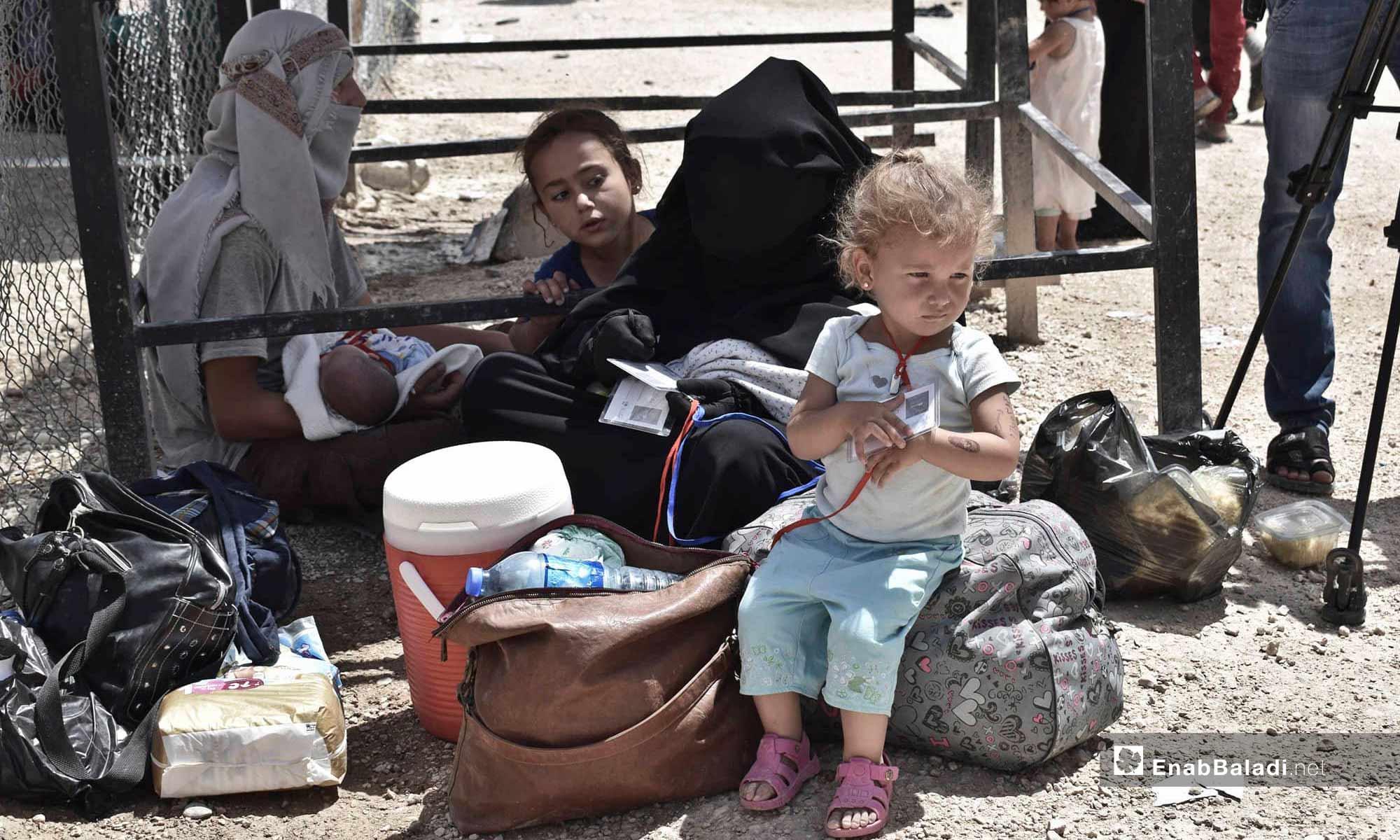 أطفال في مخيم الهول في ريف الحسكة شرق الفرات- 25 من حزيران 2019 (عنب بلدي)