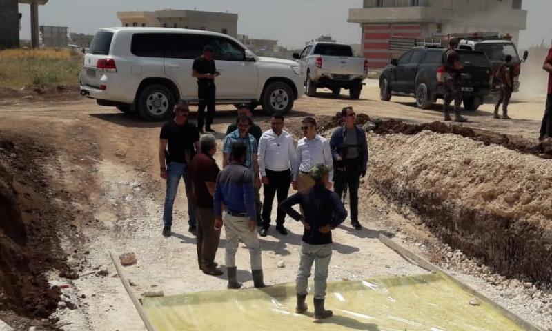 والي كيليس يزور مدينة صوران في شمال حلب (المجلس المحلي في صوران)