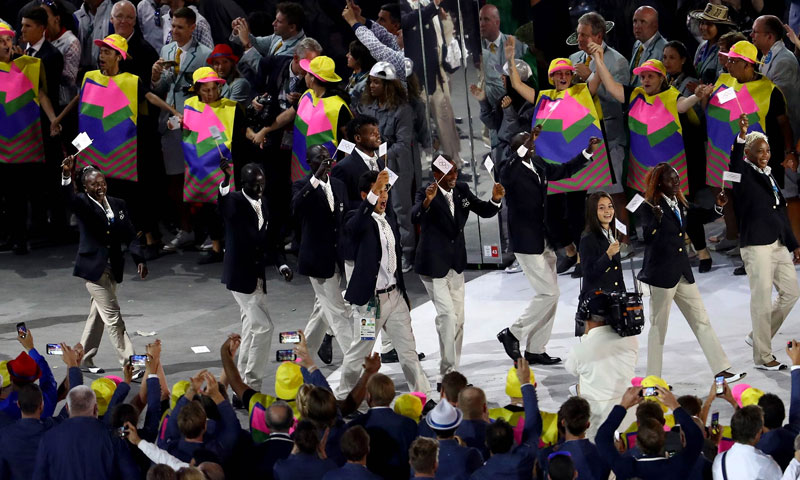 فريق الرياضيين اللاجئين أثتاء مشاركتهم في أولمبياد ريو دي جانيرو 2016 - (olympic.org)