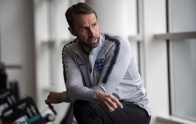 """""""ساوث جيت"""" مدرب المنتخب الإنكليزي 4 حزيران 2019 (صفحة المنتخب الإنكليزي على فيس بوك)"""