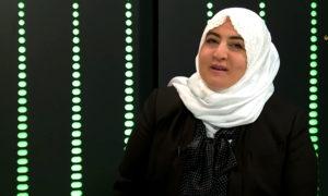 الصحفية سعاد خبية في لقاء تلفزيوني، (دار الإيمان)