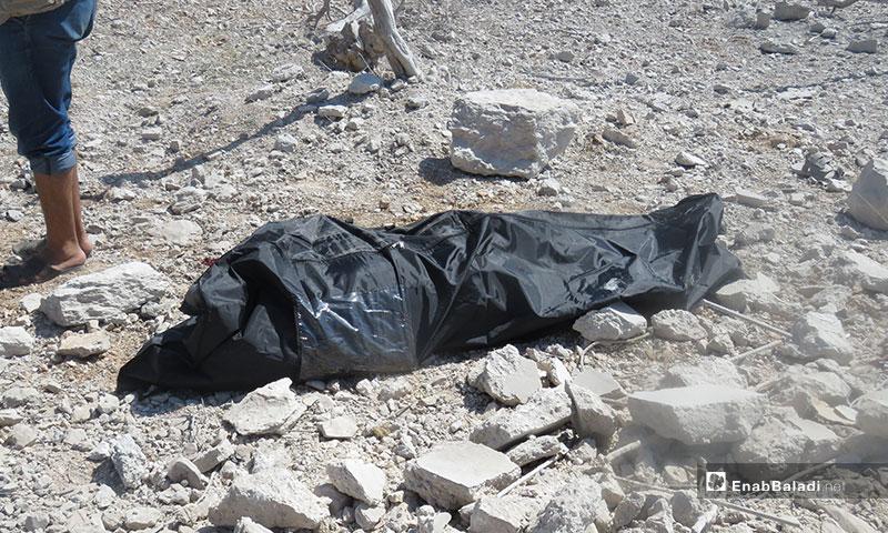 ضحايا قصف الطيران الحربي لبلدة معرتحرمة جنوبي إدلب - 10 من تموز 2019 (عنب بلدي)