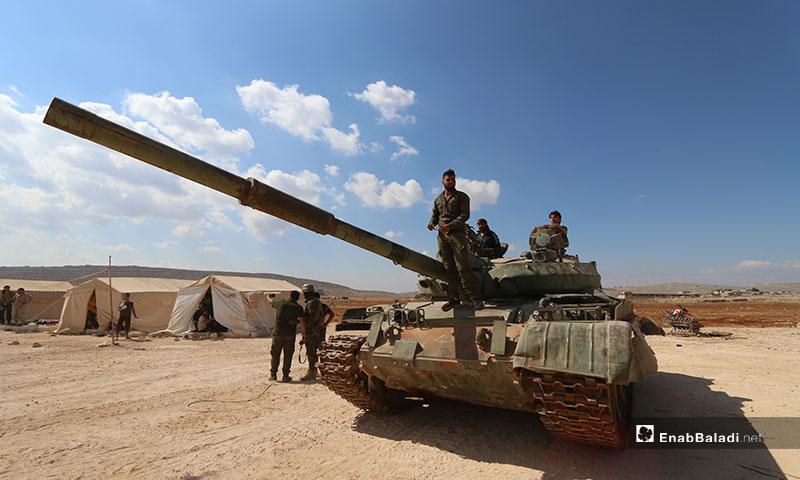 دورة عسكرية ضمن معسكر الشهيد عبد الباسط الساروت في منطقة كلبيت على الحدود السورية التركية - 15 من تموز 2019 (عنب بلدي)