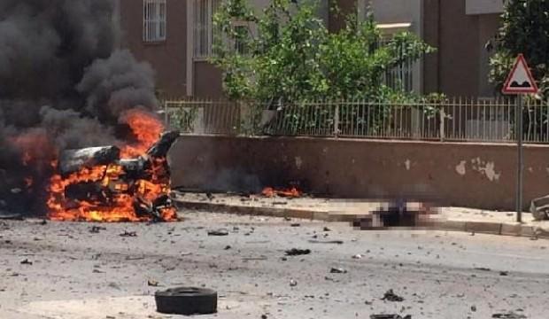 تفجير في شارع محمد عاكف أورصوي في الريحانية - 5 تموز 2019 (haber7)