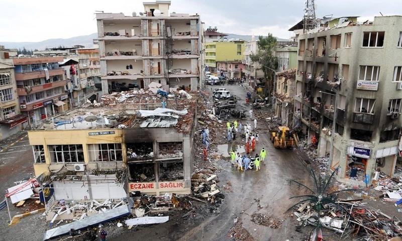 تفجيرات ضربت بلدة الريحانية جنوبي تركيا (AHBR)