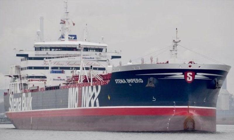 """ناقلة النفط البريطانية """"ستينا إمبيرو""""- 19 تموز 2019 (ERWIN WILLEMSE)"""