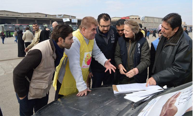 إليزابيث هوف في سوريا (WHO)