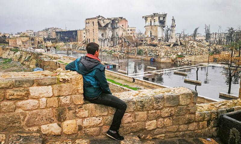 المنظر أمام قلعة حلب - كانون الأول 2018 (خوان توريس)