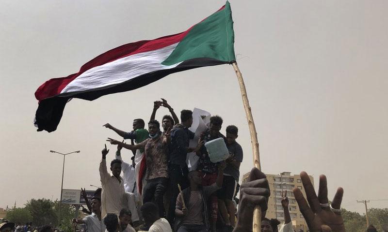 مظاهرة في السودان - 30 حزيران 2019 (AP)