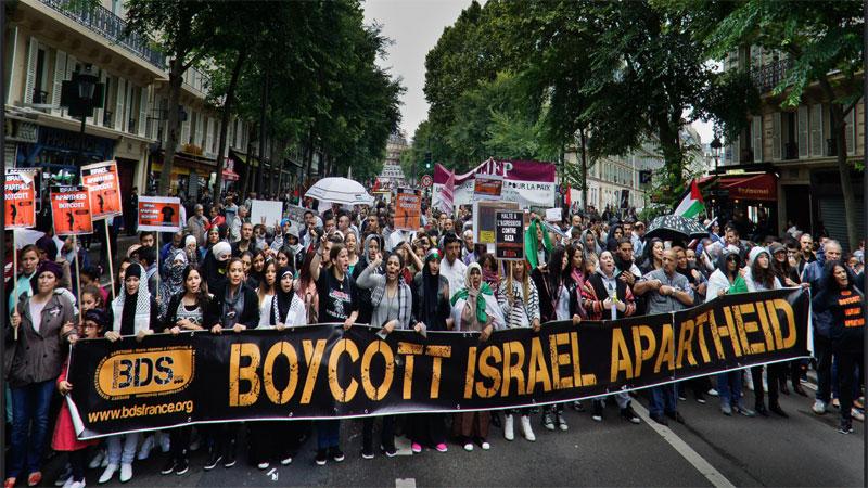 مظاهرة داعية لمقاطعة إسرائيل (الموقع الرسمي لحركة BDS)