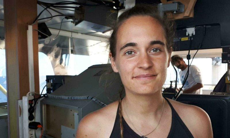 القبطانة الألمانية كارولا ريكيتا - 27 حزيران 2019 (AP)