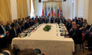 اجتماع ممثلي الدول الموقعة على الاتفاق النووي في فيينا - 28 تموز 2019 (رويترز)