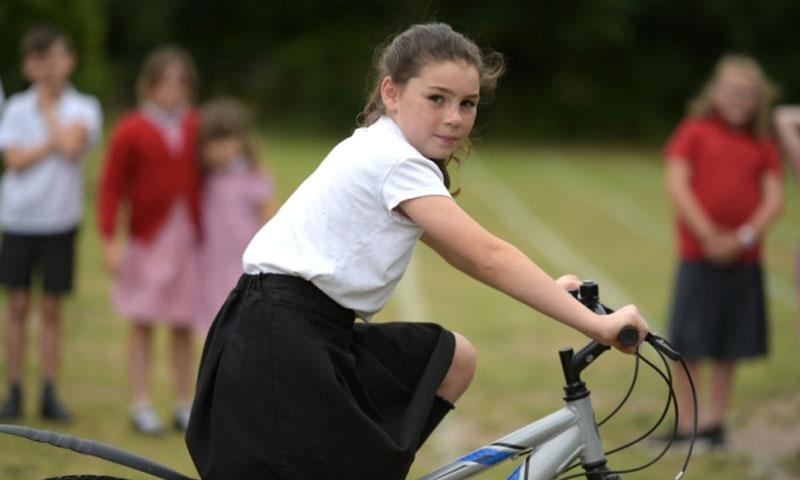 طلاب مدرسة سناب الابتدائية في بريطانيا يمارسون الرياضة لمساعدة اللاجئين السوريين - 10 تموز 2019 (East Anglian Daily Mail)