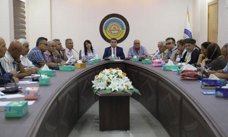 اجتماع للأحزاب السياسية الكردية في مدينة القامشلي لمناقشة توحيد الصف الكردي- 11 من تموز 2019 (وكالة هاوار)