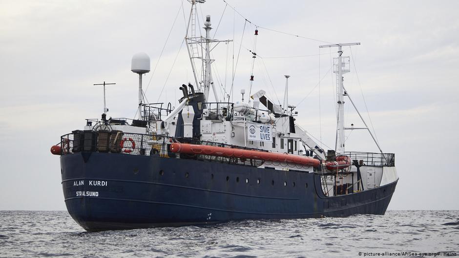 """سفينة الإنقاذ الألمانية """"آلان كردي""""، 2019، المصدر (DW)"""